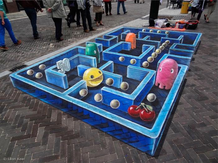 Уличные 3d-рисунки на асфальте (31 фото)