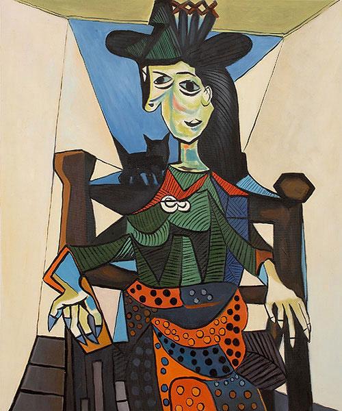 Пабло Пикассо — Дора Маар с кошкой (1941)