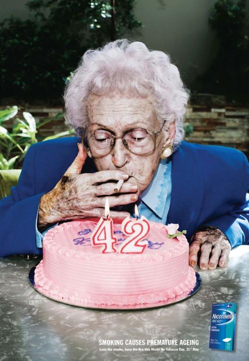 Курение не просто старит, оно преждевременно превращает вас в стариков!