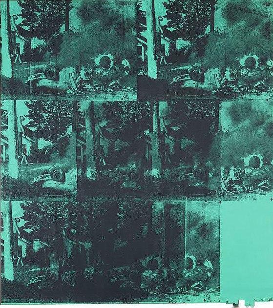 Энди Уорхол — Авария зеленой машины (1963)