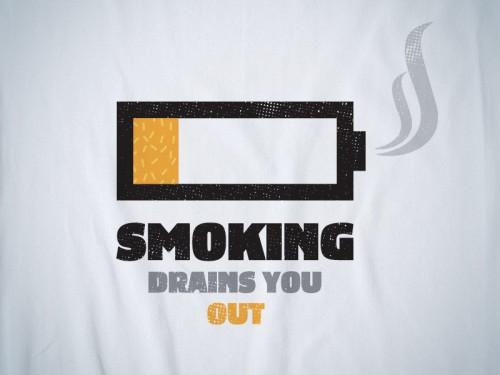 Курение истощает жизненные силы очень быстро!