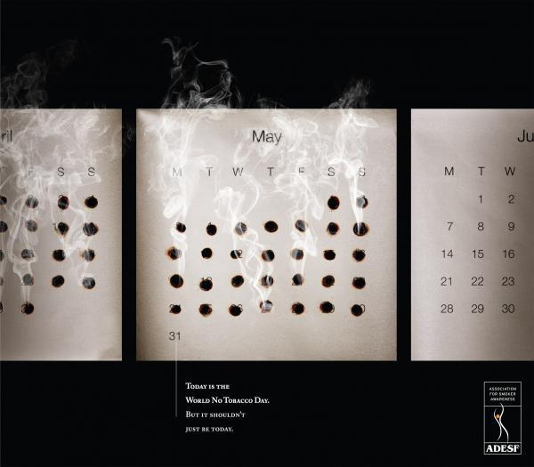 Календарь курильщика - вычеркнутые из жизни дни!