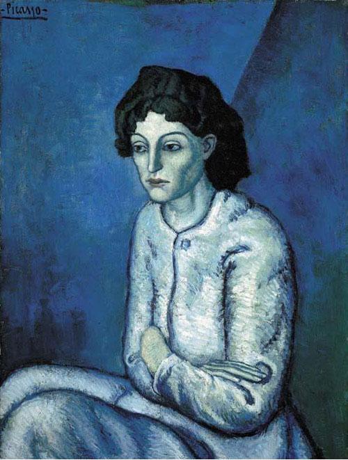 Пабло Пикассо — Женщина со скрещёнными руками (1901-1902)