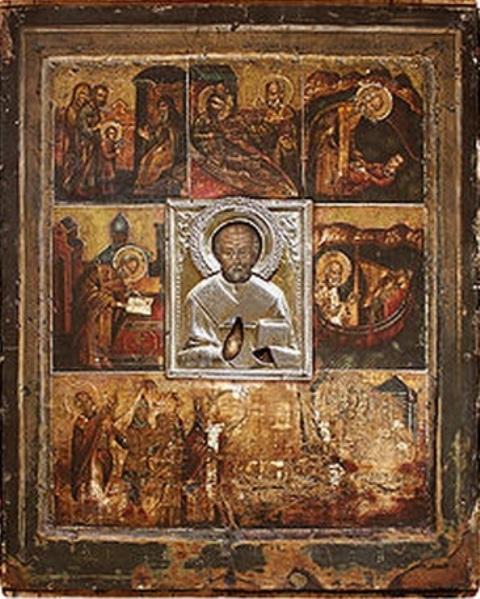 Чудотворная икона святителя Николая, обретённая возле реки Великая