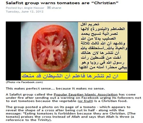 Христианские помидоры против правоверных мусульман Египта