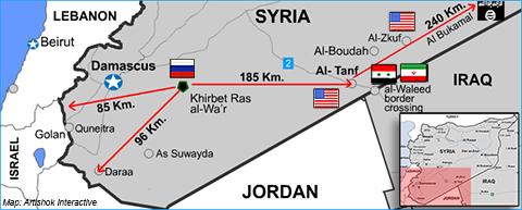 Россия впервые пошла на важный шаг в Сирии прямо под носом у США = Карта военных баз в Сирии