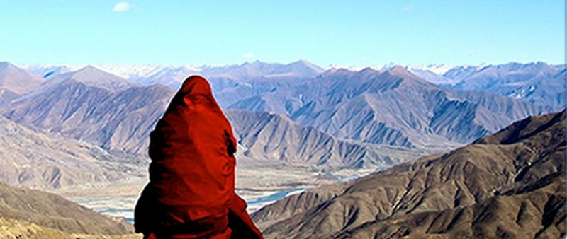 monax_smotrit_na_gory_tibeta