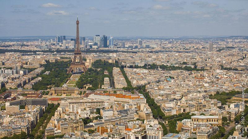 Париж в движении (14 фото + 2 видео)