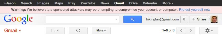 Google предупреждает юзеров о слежке со стороны правительства