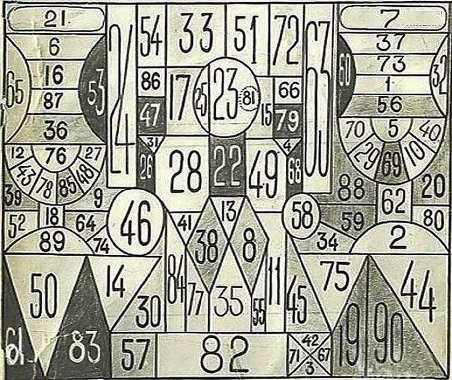 Занимательная таблица для проверки наблюдательности и уровня терпения со времен СССР
