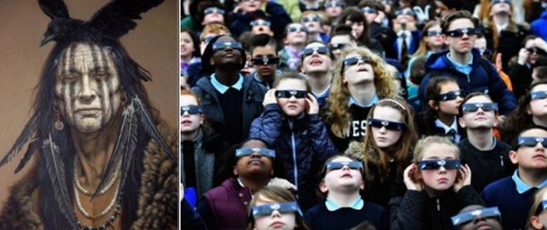 Шаманы Навахо предупредили: человек не должен смотреть на «чёрное» солнце