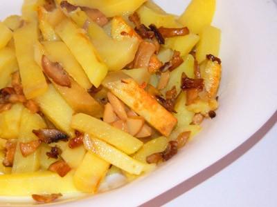 Как быстро приготовить жареную картошку с шампиньонами