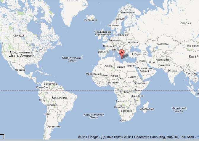 sredizemnoje more map